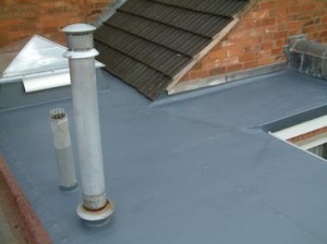 flat roof and skylight